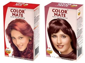Color Mate Hair Color Cream Burgundy + Mahogany