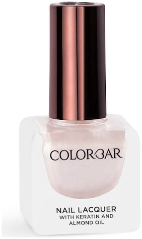 Colorbar Nail Lacquer-Silver Pink 12ml(Pink)