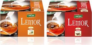 Combi Pack of Lemor Masala and Ginger Tea Bags each box containing 50 Tea Bags