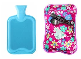 Combo of Gel Pad Electric Warm Bag & Rubber Bottle Hot Water Rubber Bag/Bottle For Pain Relief Assorted Colours (Rubber bottle +Gel Pad )