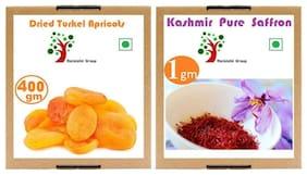 Combo Pure Saffron Kesar 1 g & Turkish Dried Apricots 400 g