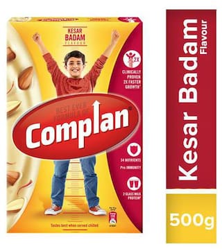 Complan Growth Drink Mix - Kesar Badam Flavour 500 g