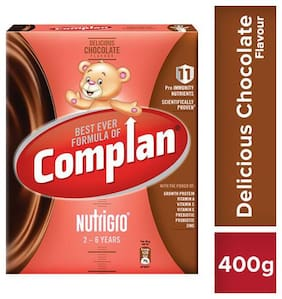 Complan Nutrigro Growth Drink for Toddlers - Delicious Chocolate Flavour, 2-6 Years 400 g