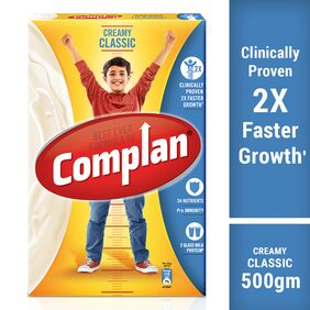 Complan Growth Drink Mix, Creamy Classic flavour - 500g Carton