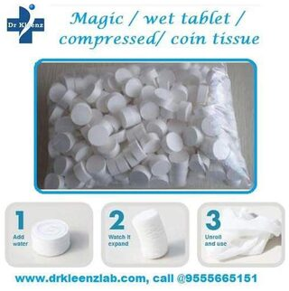 Compressed/ Magic Napkin/ Coin Tissue ( 100 Candy Packs)