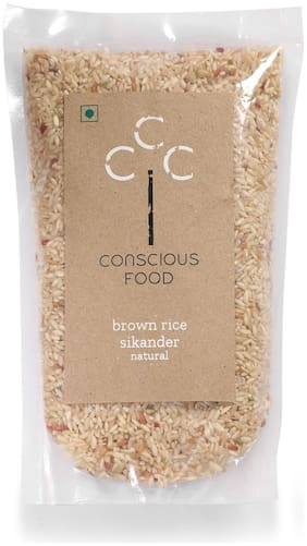 Conscious Food Natural Brown Rice 500g (Pack Of 3)