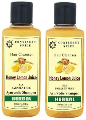 Continent Spice Honey Lemon Juice Shampoo (100 Ml) -(Sls-Paraben Free) Pack Of 2 -Cs682005