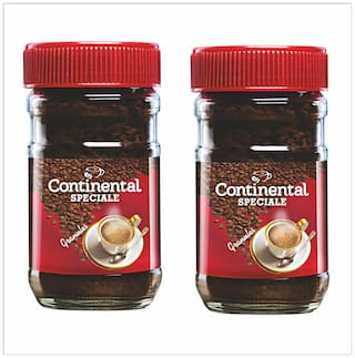 Continental SPECIALE Coffee Powder 50G Jar -100% Pure Instant Coffee ( PACK OF 2 )