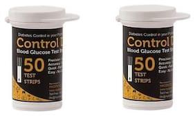 Control D Blood Sugar Glucose 100 Test Strips only (Black)