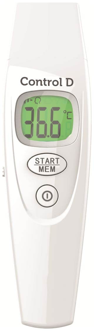 Control D Forehead & Object with Dual Color Non Contact Infrared 1 Second Thermometer(Pack of 1)
