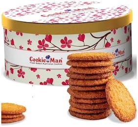 CookieMan - Coconut Macaroon - 300g Gift Tin   Coconut Biscuit   Crunchy Coconut Snacks   Crisp Bakery Biscuits for Teatime
