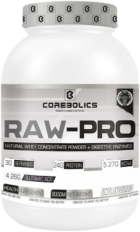 Corebolics New Raw-Pro 900gm Natural Whey Concentrate Protein