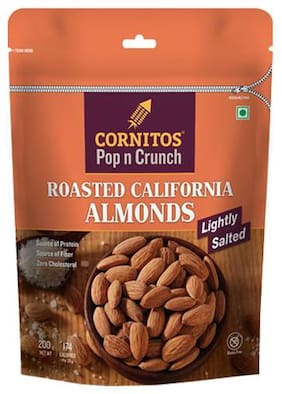 Cornitos Almonds - Roasted, Lightly Salted 200 gm
