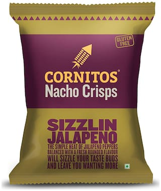 Cornitos Nacho Crisps - Sizzlin Jalapeno 150 gm