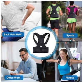 Cos theta fitness  Posture Corrector Back Support Brace Magnetic Therapy Shoulder Belt Back & Abdomen Support