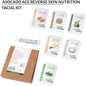 Cosmetofood Professional Avocado Age Reverse Skin Nutrition Facial Kit 35 ml For Men And Women (Pack Of 1)