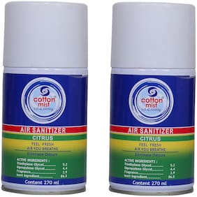 Cotton Mist Citrus Air Sanitizer 270ml (Pack of 2 x 270ml)