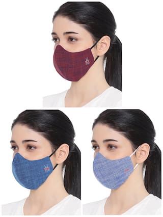 Crimsoune Club Unisex Reusable 6-Layers Protective Outdoor Mask (Pack of 3)