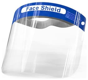 Crystal Digital Face Shield Fluid Resistant Clear Anti-Splash Facial Cover with Elastic Band ( Pack of 1 )
