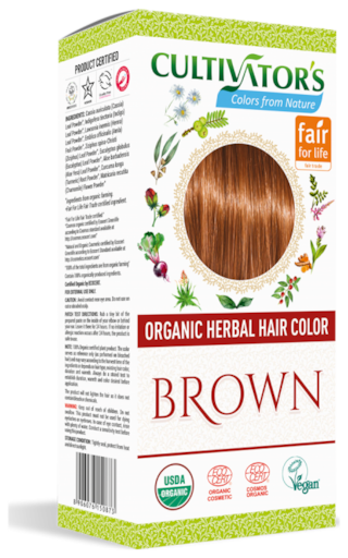 Cultivator's Organic Herbal Hair Color Brown