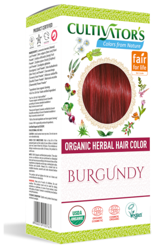 Cultivator's Organic Herbal Hair Color Burgundy