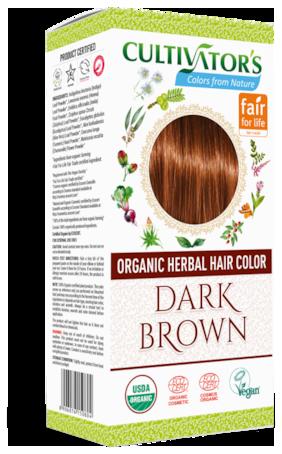 Cultivator's Organic Herbal Hair Color Dark Brown