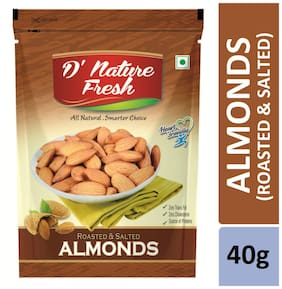 D'nature Fresh Roasted Salted Almonds 40g
