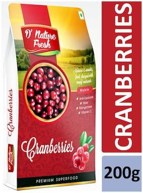 D'nature Fresh Cranberries 200g