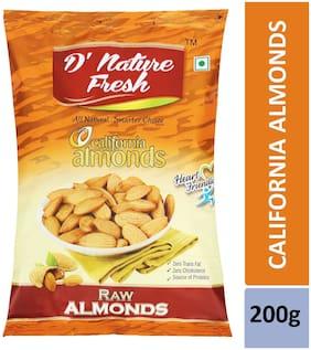 D'nature Fresh California Almonds Raw 200g