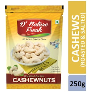 D'nature Fresh Roasted Salted Cashews 250g