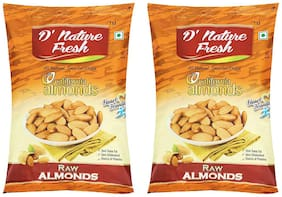 D' Nature Fresh Fresh Raw California Almonds Pack Of 2 (200Gram X 2)