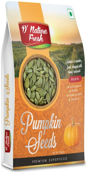 D' Nature Fresh Roasted Pumpkin Seeds Pack Of 1 (100Gram )