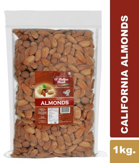 D' Nature Fresh California Raw Almonds 1Kg Pack Of 1