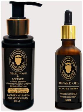 DAARI MOOCH Beard Wash (100ml) & Beard Oil(50ml) (Bloomy) (Pack of 2)