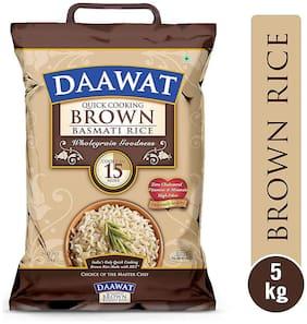 Daawat  Basmati Rice - Brown (Quick Cooking) 5 kg