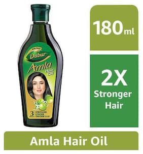 Dabur Amla Hair Oil Long  Healthy & Strong Hair 180 Ml