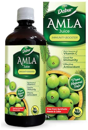 Dabur Amla Juice 100% Ayurvedic Health Juice - 1L (Pack of 2)