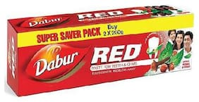 Dabur Red Ayurvedic Toothpaste 200 g (Pack Of 2)