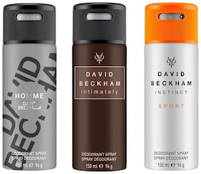 David Beckham Instinct Sport &  Intimately  & Homme Deo Combo Set - Pack of 3