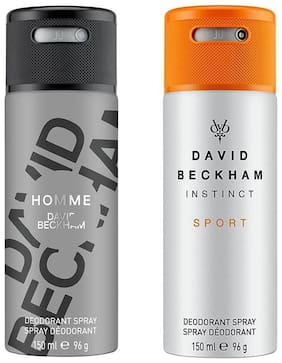 David Beckham Homme & Instinct Sport Deo Combo Set(Pack of 2) 150 ml