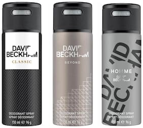 David Beckham Classic & Beyond & Homme Deo Combo Set(Pack of 3) 150 ml
