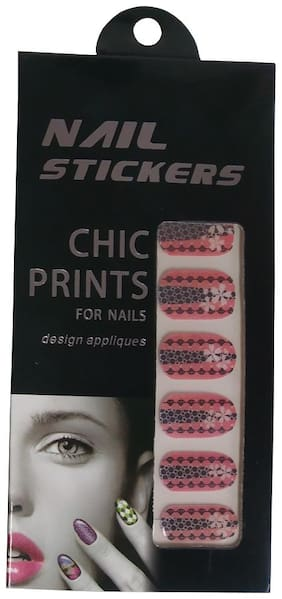 De-Ultimate BBN0003 (12 Pcs In Pkt) Multi/Various Fashionable Stylish Design Appliques Polish Wraps Self-Adhesive Strips Nail Stickers For Women's And Girl's Nail Art & Accessories (Multicolor)