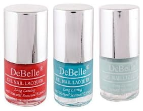 DeBelle Gel Nail Polish 8ml Multi (French Affair, Royale Cocktail, Mint Amour)  (Pack of 3)