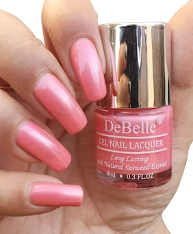 DeBelle Gel Nail Lacquer, Pearl, Pink - Miss Bliss (8 ml)