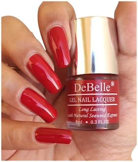 DeBelle Gel Nail Lacquer, Glossy, Dark Red -  Moulin Rouge (8 ml)