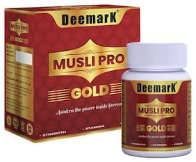Deemark Musli Pro Gold |100 % Ayurvedic Capsules for Strength;Stamina and Power (30 Capsules)