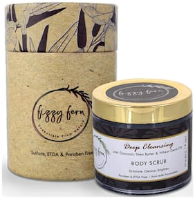 Deep Cleansing Body Scrub with Charcoal, Shea Butter & Wheat germ Oil