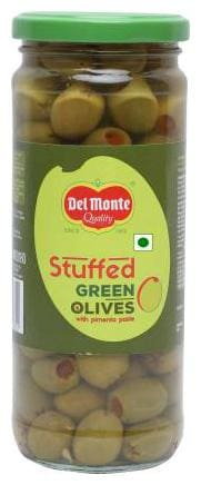 Del Monte Green Olives stuffed 450 g (Pack of 1)