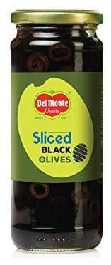 Del Monte Sliced Black Olives 450g (Pack of 1)