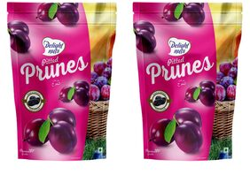 Delight Nuts Pitted Prunes 200g (Pack of 2)